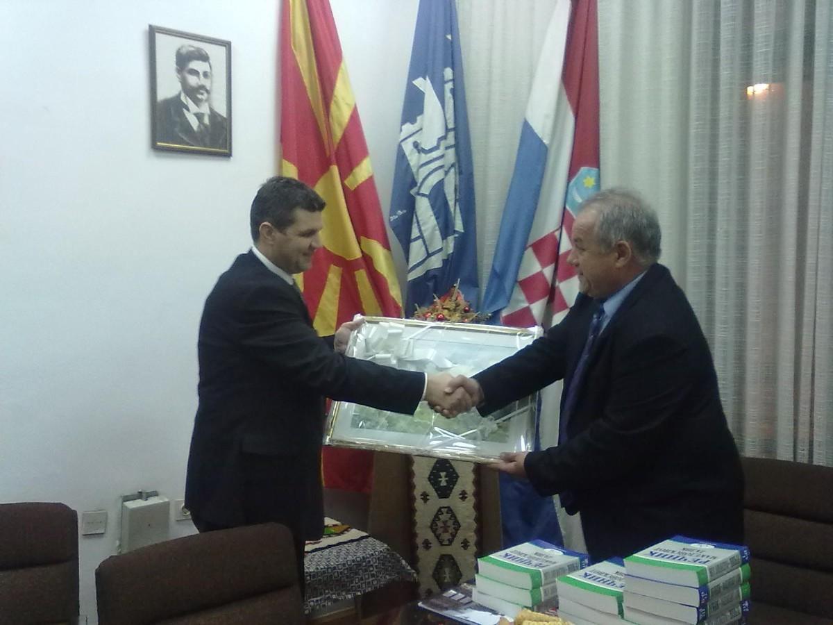 """Susret s delegacijom iz """"Nove Makedonije"""": Donacija vrijedna poštovanja"""
