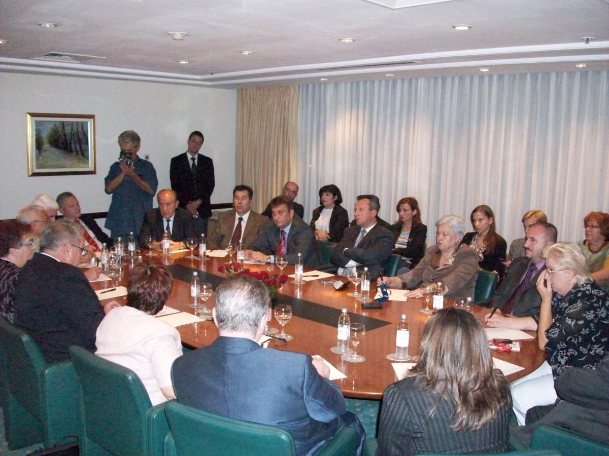 Susret s Predsjednikom Makedonskog Sobranja Trajkom Veljanoskim