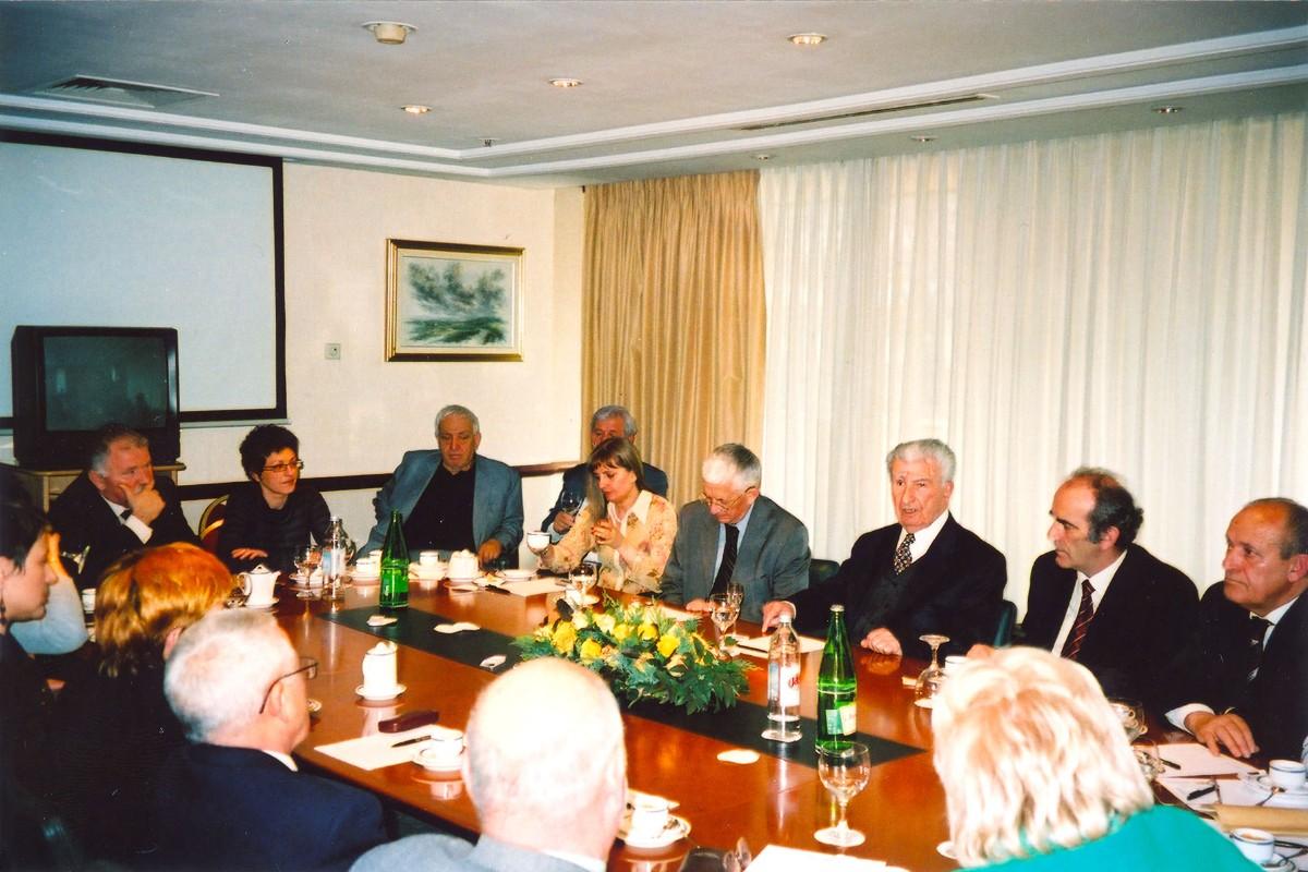 Susret s prvim predsjednikom Makedonije, Kirom Gligorovim u Zagrebu