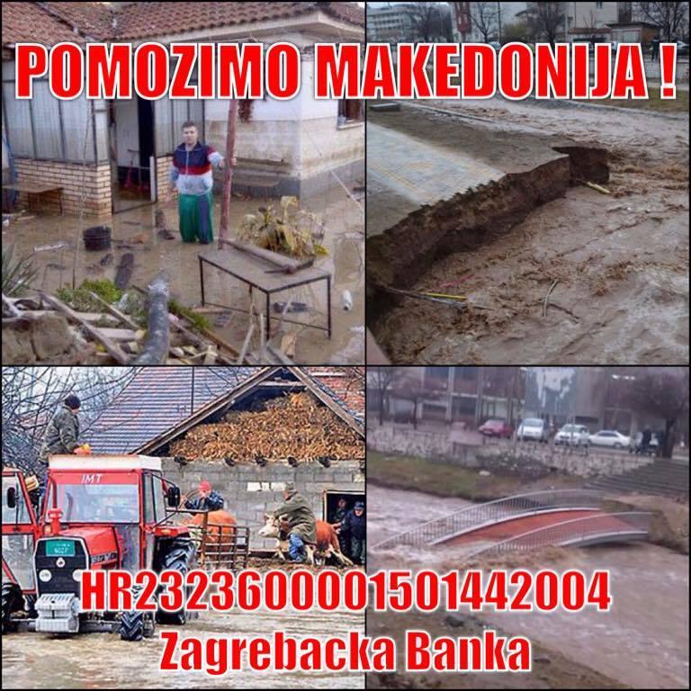 Humanitarna pomoć za poplavljene u Makedoniji!