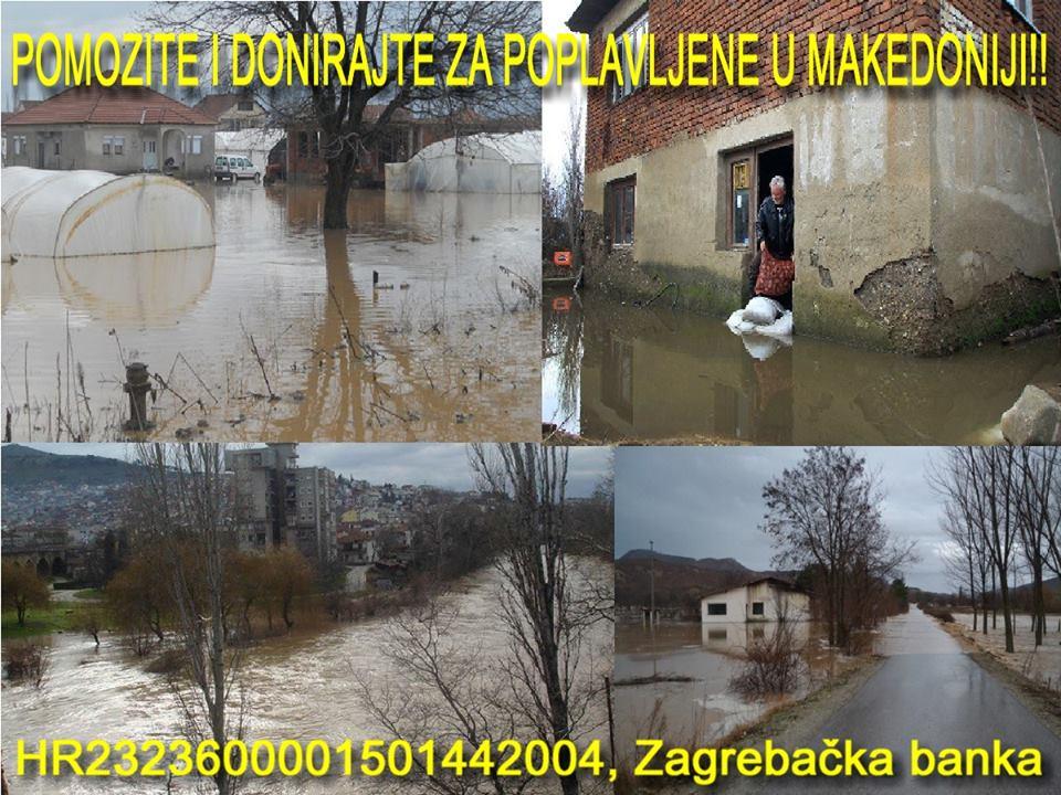 Hrvatska donirala 100 tisuća eura za poplavljene u Makedoniji