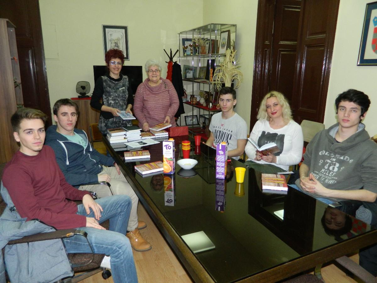 Susret s učenicima iz Prve gimnazije u Zagrebu