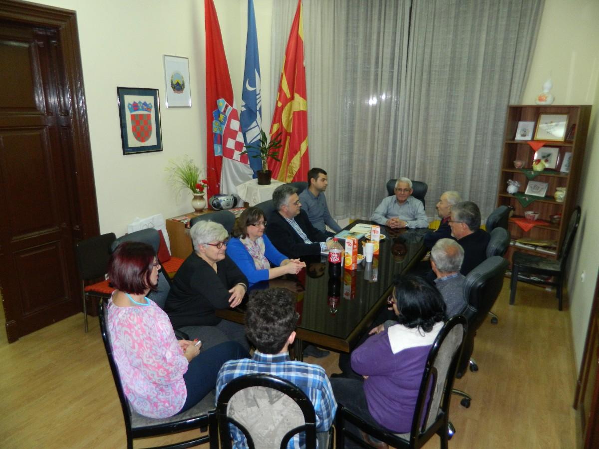 Susret sa Zajednicom Hrvata u Republici Makedoniji